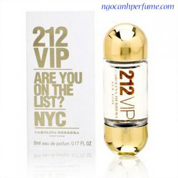 Nước hoa 212 VIP Carolina Herrera EDP mini 5ml